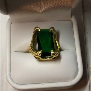 Large Emerald Cut, Emerald Green Color Stone